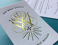 Letterpress Business Cards with Gold Foil
