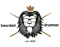 BEARDED DRUMMER LOGO DESIGN