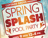 Spring Splash Pool Party Flyer
