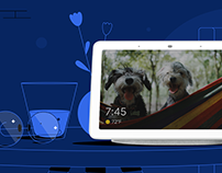 Google Home Hub – Welcome Video Illustrations