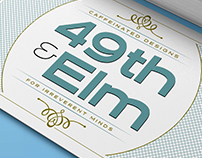 49th and Elm business card