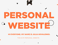 Personal website concept