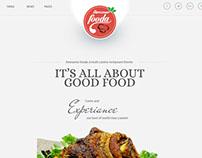 Awesome Fooda PSD theme