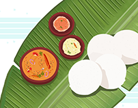 Illustrations : South Indian Tiffins
