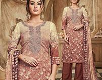 Latest Designer Flower Digital Printed Cotton Punjabi