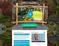 The Secret Garden - Landing Page design