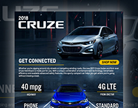 Chevrolet Cruze Landing Page