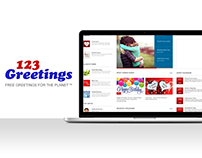 123greetings.com Redesign concept - Landing page