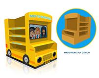 Corrugated School Bus POS Display