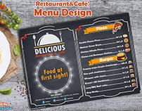 Restaurant & cafe menu design + mock up