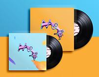 """vinyl cover """"2 hands p.2 (surrealism)"""""""
