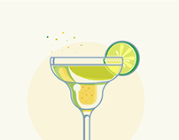 Classic drinks - icon set