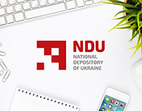 NDU. Logo design, corporate style, brandbook