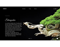 Web interaction for bonsai website