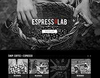 EspressoLab Home Page Design