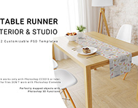 Table Runner Interior and Studio Mockup Set