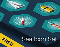 Sea Icon set Free