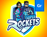 Super Rockets mindfulnes program | branding