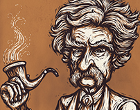 Mark Twain Caricature