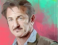 Sean Penn (vector portrait)