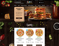 Food photography for pizza delivery website Baku