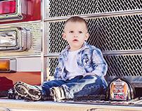 A Boy and a Fire truck