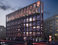 Hotel Achitectural Rendering for the Commercial Design