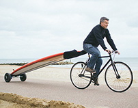 SUPwheels - a surfboard carrier for your bike