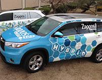 Zappos Car Wrap