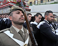 Holy Thursday Procession in Melilla: military custody