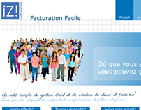 """Izi - Facturation Facile"" logo and web design projects"