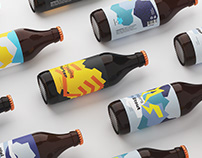 Drizzle Brewery packaging design