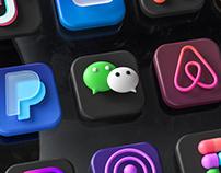 iOS 14 Big Sur 3D icon pack