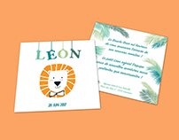BIRTH ANNOUNCEMENT - LEON