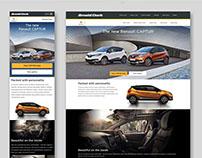 Renault Captur landing page redesign