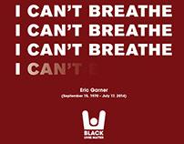 """Eric Garner """"I Can't Breathe"""" Poster"""