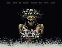 Дизайн главной страницы сайта Infected Mushroom