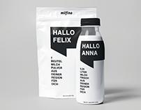 Milfina Milk packaging design