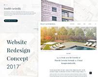 Website Redesign Concept - Polat Değerleri