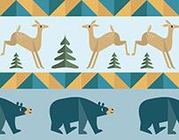 Bear & Deer pattern