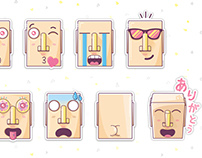 Kyoto's Face House (京都の顔の家) • Emoji stickers