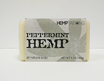 Hemptations Peppermint Scented Soap