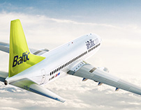 Plane visualization project for AirBaltic