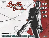 Lucille - Barbed Wire Illustrator Brushes