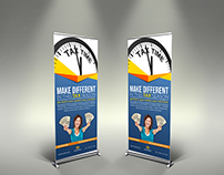 Tax and Accounting Signage Roll up Banner Template