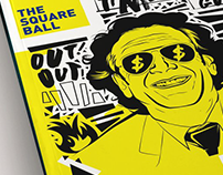 Front Cover Design for The Square Ball Magazine