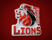 Lions Rugby logo revamp and 3D build