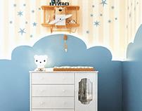 Baby bedroom cloud