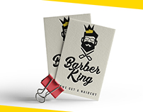Barber King - Logo, Business Card and Sign design