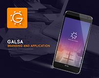 Galsa mobile app.